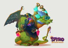 Spyro: Reiginited Dragons Vol. I, Devon Cady-Lee Bubble Dragon, Spyro The Dragon, Dragon Design, Dungeons And Dragons, Devon, Cartoon Characters, Game Art, Fantasy Art, Concept Art