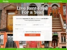 Trulia's Pay My Rent Sweepstakes