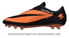 cheap for discount 73279 e22f7 Nike Soccer Cleats   599843-008   Nike Hypervenom Phantom FG CUSTOM Soccer  Cleats (Black Bright Citrus)   FREE SHIPPING   SOCCERCORNER.COM