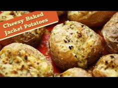 Cheesy Baked Jacket Potatoes | Easy To Make Lunch/Brunch Recipe | Divine...