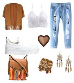 """""""SUPER CUTE cochella outfit ❤️"""" by tessagreen01 on Polyvore featuring Windsor Smith, Chloé, Boohoo and Dorothy Perkins"""