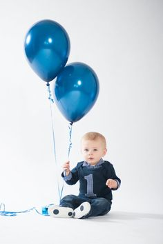 We Love This Look For A Baby Boy First Birthday Photo Shoot Navy Blue Shirt