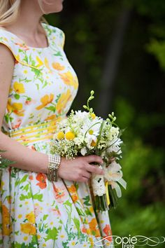 Pair a sundress with a small bouquet for a more simple approach for Spring bridesmaids.