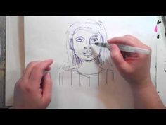 One Minute Technique: Ink Pen + Waterbrush - YouTube