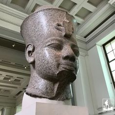 The colossal granite head of Amenhotep III can be found in Room 4, ground floor.