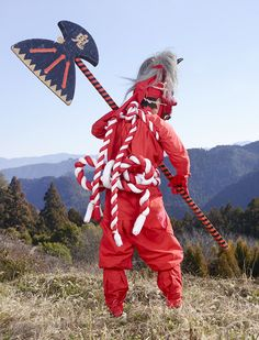 Charles Freger - from Yokainoshima series, 2013 Charles Freger, Costumes Japan, Magazine Japan, Festival Costumes, Winter Festival, French Photographers, Photography Projects, Fantasy Creatures, Body Painting