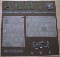 army scrapbook layouts - Google Search