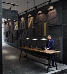 INK. Hotel Amsterdam - Picture gallery #architecture #interiordesign #letters