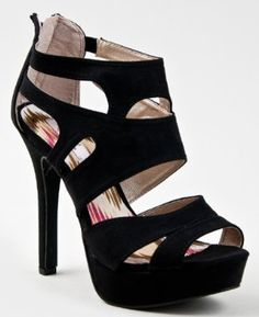 GAZE-239 High Heel Platform Cut Out Stiletto Sandal Bootie