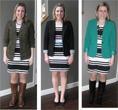striped dress 3 ways | Blogger of the Month feature at Smart and Savvy