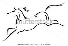horse head outline - Google Search