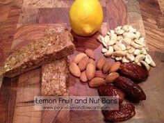 Lemon Fruit and Nut Bars