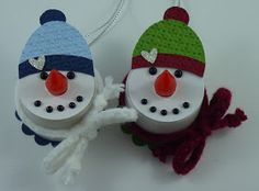 Snowman Christmas Ornament Crafts | think this year I am going to ...