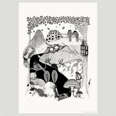 This beautiful poster Deep Woods from Mini Empire is inspired by the wildlife in the ancient woods of Sweden.