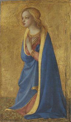 The Virgin of the Annunciation / La Virgen de la Anunciación // 15th c. // Fra Angelico // Alte Pinakothek // #Mary #Maria #AveMaria