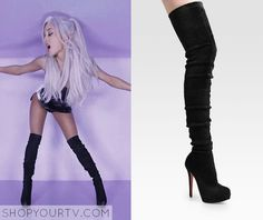 """""""Focus"""" Music Video: Ariana's Black Christiian Louboutin Over the knee boots"""