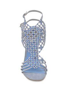 Rene Caovilla Sandals in Blue (Light grey) | Lyst