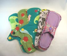 Set of 3 thin light panty liners with wings for by CottonClothPads, $7.00