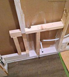 DIY: How we made a Bathroom in our Basement Without Breaking Concrete! Basement Family Rooms, Basement Closet, Basement Studio, Basement House, Basement Ceilings, Basement Bars, Diy Finish Basement, Basement Finishing, Basement Bar Designs