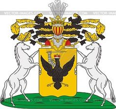 Saltykov, family coat of arms - vector clipart