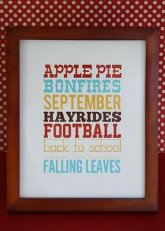 Fall Printables #fall #freeprintable #september #backtoschool #autumn