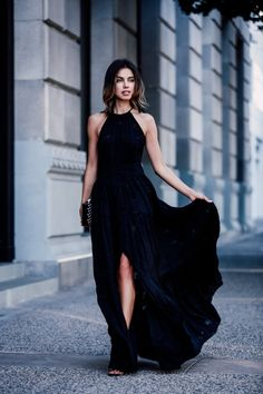 Vestito nero per matrimonio di sera alejandra