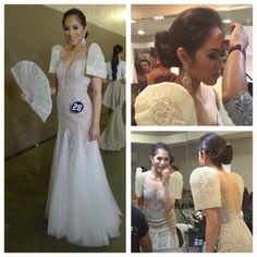 Filipiniana Wedding Theme, Modern Filipiniana Dress, Wedding Dresses, Asian Fashion, Women's Fashion, Fashion Outfits, Wedding Goals, Wedding Ideas, Barong