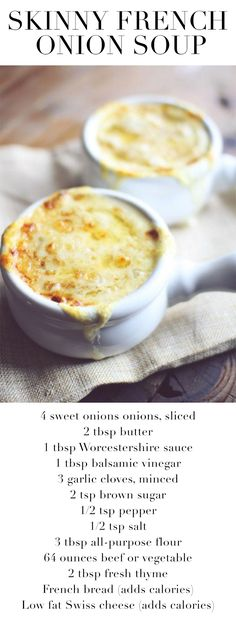 Skinny French Onion Soup. Made this for dinner, and the whole family (even my pickiest eater) loved it!!