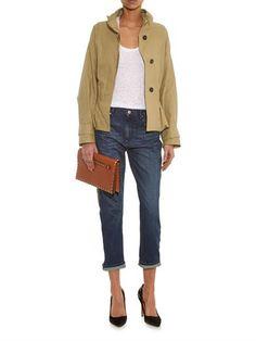 Isabel Marant Oury belted cotton-blend jacket