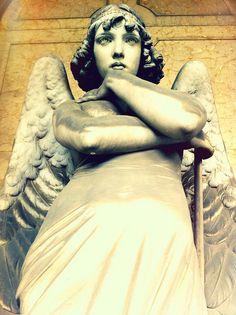 Wow!  What detail: striking eyes, flowing gown, wings . . . One of my favorites!