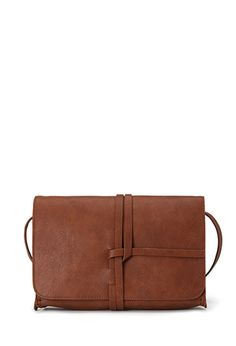 Wrapped Faux Leather Crossbody | FOREVER21 - 1000099796