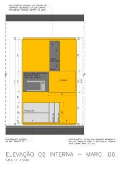 Galeria de Reforma do apartamento Reserva Saúde / Stuchi & Leite Projetos - 12 Locker Storage, How To Plan, Interior Design, Drawing Architecture, Detail, Kitchens, Sketch, 1, Home Decor