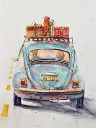 Image result for old truck watercolor paintings