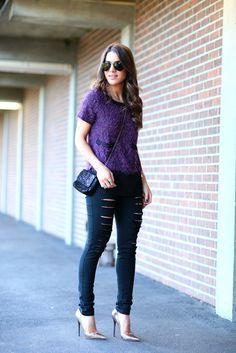 Meninas, vocês já viram como as Calças Jeans Destroyed estão super em alta?!Elas podem ser de modelagem skinny ou boyfriend, com rasgos pequenos ou g...