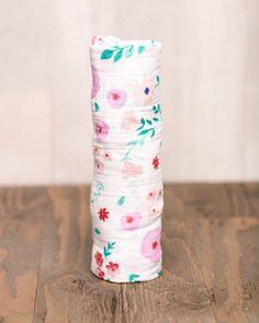 Cotton Muslin Swaddle Blanket Single in Morning Glory|Little Unicorn|NoaVivi Kids