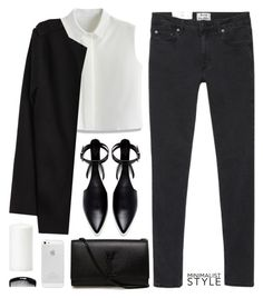 """Minimal style"" by elly3 ❤ liked on Polyvore featuring Acne Studios, Chicwish, Zara, Yves Saint Laurent, minimalism, Minimaliststyle, polyvoreeditorial and polyvorecontest"