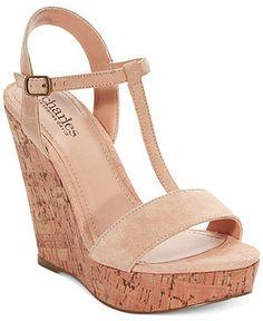 24b9e306ba4 Charles by Charles David Alethia Platform Wedge Sandals Shoes - Sandals    Flip Flops - Macy s