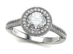 2.24 cttw Zoe R(tm) Platinum Plated Silver Micro Pave Hand Set Cubic Zirconia (CZ) Round Engagement Ring Size 6 review - wedding ring hand | ring engagement finger