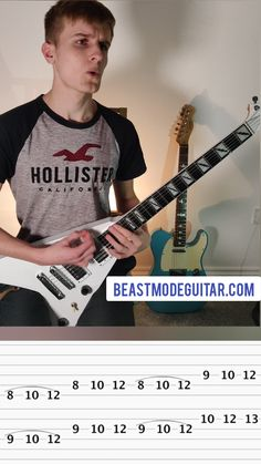 Learn this lick and wow your friends 🔥Click to learn how to shred on electric guitar for beginners and play more licks like this 😄 #guitar #music Lead Guitar Lessons, Free Online Guitar Lessons, Guitar Chord Chart, Guitar Tabs, Pentatonic Scale Guitar, Beginner Electric Guitar, Guitar Chords And Lyrics, Guitar Exercises, Guitar Riffs