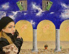 """Per tetto un cielo di stelle Serie""""photo brush"""" Cm 90x70"""
