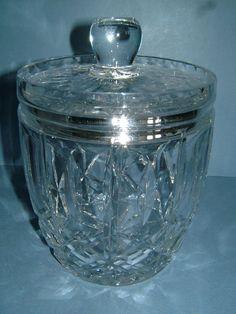 1930s Cut Glass Ice Bucket / Biscuit Barrel  by BiminiCricket, $50.00