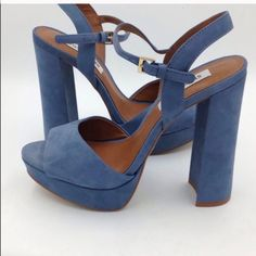 39eecdd924a Shop Women s Steve Madden Blue size Heels at a discounted price at Poshmark.