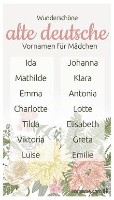seltene deutsche mädchennamen