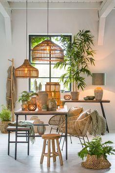 Inspiring lighting, furniture, home accessories and interior decorations Interior Bohemio, Basket Lighting, Estilo Tropical, Interior Decorating, Interior Design, Bohemian Interior, Home And Deco, My New Room, Furniture Design