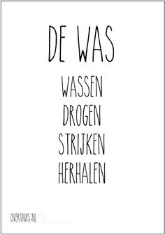 De Was - Gratis poster - also a laundry version