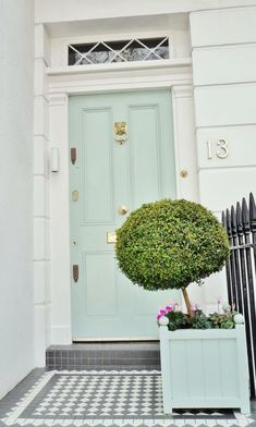 Help! I wanted Soothing Green Walls and I Got Hospital Green Instead! | laurel home - beautiful mint green front door