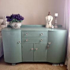 Art Deco Duck Egg Blue Sideboard by Lilyfield Life