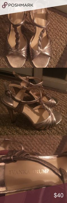 """Like new gorgeous hills by Ivanka Trump. These hill are gorgeous. Gold with a 4.5"""" hill. Ivanka Trump Shoes Heels"""