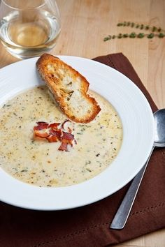 *Riches to Rags* by Dori: Roasted Cauliflower and Aged White Cheddar Soup