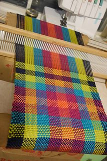 Ravelry: crayondisaster's Neon Plaid Scarf Loom Weaving, Hand Weaving, Plaid Scarf, Ravelry, Mad, Neon, Quilts, Blanket, Tips